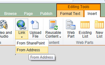 how to add hyperlink in wiki page